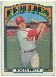 1972 Topps Baseball Cards      069      Roger Freed